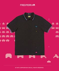 Fred Perry x SPACE INVADERS なにこれいい!