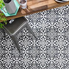 Amazing black floor tile #floortiles