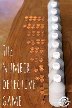 DIY Number Detective Game for Kids - http://kidsactivitiesblog.com/47328/number-game-for-kids