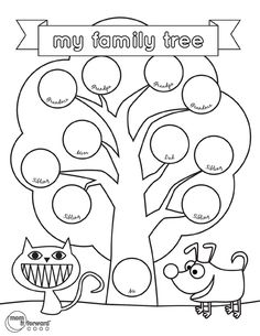 Family Tree Worksheet Printable Beautiful 4 Free Family Tree Templates for Genealogy Craft or – Tate Publishing News Free Family Tree Template, Family Tree Worksheet, Family Tree For Kids, Trees For Kids, Kindergarten Worksheets, Worksheets For Kids, Printable Worksheets, Printable Templates, Free Printable
