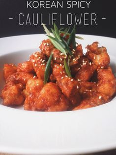 Korean Spicy Cauliflower