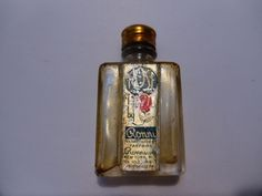 Vintage empty MINI ROSE BOTTLE by Ronni Metal Cap Miniature Perfume