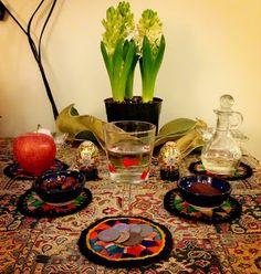 Persian New Year (Nowruz) Table (Haft Seen). Nowruz mobarak!