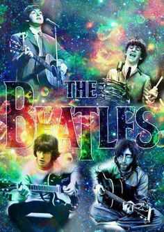 ☮ American Hippie Art ☮ Beatles music concert poster .. psychedelic