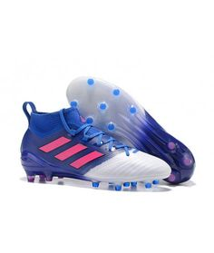 6d488495 Adidas ACE 17.1 FG Tacchetti Per Terreni DuriUomo Scarpe Da Calcio Blu  Bianco Rosa