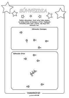 Spájame bodky. Súhvezdia. - Aktivity pre deti, pracovné listy, online testy a iné
