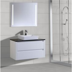 New product range. - 900 wall hung vanity basin High gloss white finish Soft close draws Stone tops - Colour of your choice Square above counter basin   #bathroom #renovation #interiordesign #remodel   http://www.bathroom-renovation.melbourne