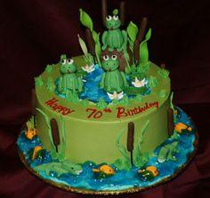 70th frog birthday cake