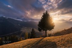 Italy. Dolomites. Sunset at the village of Selva di Val Gardena by architecturalphotographer #landscape #travel