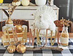 DIY ~Thanksgiving Centerpiece @Heather Creswell // Whipperberry.com