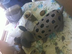 Working progress. Elephant turtle:)  Made with gray clay