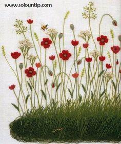 Graficos de bordado en flores   Solountip.com