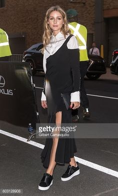 Olivia Palermo is seen arrivin to Prabal Gurung fashion show during New York Fashion Week The Shows September 2016 at The Gallery Skylight at...