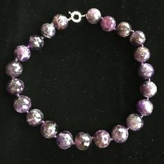 """NWOT 18mm Amethyst 18"""" Necklace w 18K GP Clasp NWOT 18mm Round Faceted Amethyst 18"""" Necklace with 18K GP Clasp.  Color of Amethyst different due to lighting. No Trades & No PayPal  Jewelry Necklaces"""