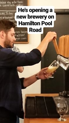 Jensen spilling beer from the tap
