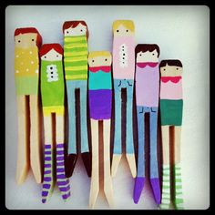 clothespin peg people (magnets?)