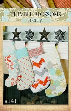 I really love these stockings, but would do them in holiday colors.