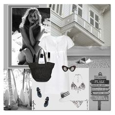 """""""Vacances à la plage"""" by cybelfee ❤ liked on Polyvore featuring Bobbi Brown Cosmetics, shu uemura and polyvoreeditorial"""