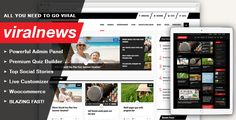 Why Viralnews? Ever wanted to create a magazine theme like Buzzfeed, UPworthy or many other insanely popular resources around? With Viral News it's going to be easy and fun! Whether it's about cr...