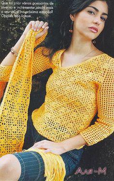 Uncinetto d'oro: Maglietta e sciarpa with instructions