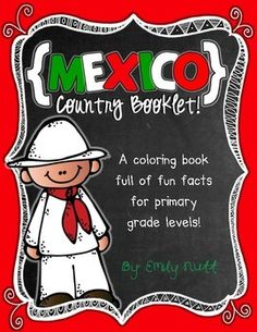 """This """"All About Mexico"""" booklet can be used for a very basic country study in lower elementary grades! Just print out the pages, have kids cut alo. Study Spanish, Spanish Lessons, Teaching Spanish, Teaching Kids, Kids Learning, Learn Spanish, Spanish Class, Learning Tools, Around The World Theme"""