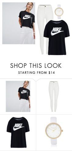 """""""Nike T-shirt"""" by jasmine077 ❤ liked on Polyvore featuring NIKE and River Island"""
