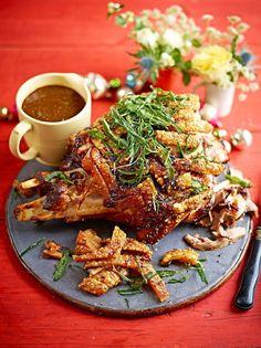 Roast pork leg