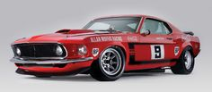 1969 Boss 302 Mustang in Trans-Am racing trim