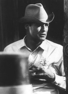 Marlon Brando during the filming of The Chase, 1966.