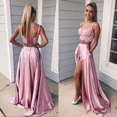 Prom dresses lace - Charming A Line Two Piece Sweetheart Cross Back Split Blush Pink Lace Long Prom Dresses, Elegant Evening Party – Prom dresses lace Prom Dresses Long Pink, Pink Prom Dresses, Quinceanera Dresses, Ball Dresses, Dance Dresses, Homecoming Dresses, Evening Dresses, Party Dresses, Dress Prom