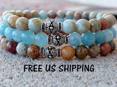 Hey, I found this really awesome Etsy listing at https://www.etsy.com/listing/159839916/meditation-aid-set-of-3-mala-bracelets