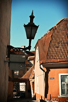 upper level of Vana Tallinn, in Toompea 12th Century, Baltic Sea, Lithuania, Old Town, Lanterns, Old Things, Street, City, Colorful