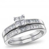 NK Mosaic Diamond Collection, 14K White Gold Diamond Bridal Set, 3/4 ctw.