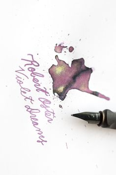 Robert Oster Violet Dreams - Bottled Ink - Beautiful purple fountain pen ink with gold shimmer. When To Plant Seeds, Belly Painting, Metal Pen, Face Painting Designs, Fountain Pen Ink, Henna Patterns, Skull Tattoos, Travelers Notebook, Ink