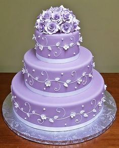 purple wedding cake!