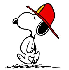 Snoopy as The World Famous Firefighter