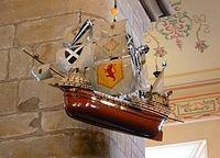 Model of the 'Great Michael', Burntisland Kirk Fife - Michael (ship) - Wikipedia Model Ships, Scotland, Farmer, Salt, Models, Reading, Concept Ships, Templates, Salts