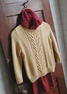 Free Knitting Pattern - Women's Sweaters: Wishbone Cabled Sweater