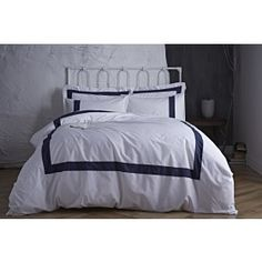 Bianca Tailored Duvet Cover Set Navy at Arnotts. Super King Duvet Covers, King Duvet Cover Sets, Single Duvet Cover, Duvet Sets, Navy Bedding, Linen Bedding, Bed Linens, Bed Curtains, Bed Covers