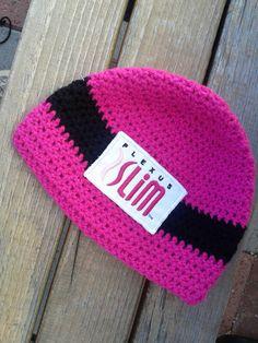 Crocheted Beanie with Plexus Logo (Pink with black stripe) by PlexusSwagMsAccessry on Etsy https://www.etsy.com/listing/209097496/crocheted-beanie-with-plexus-logo-pink