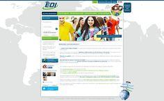Maquette site edilangues.com - createur site internet pour sejours et formations linguistiques