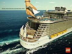 """""""It all started with lego"""" Cruise Ship Advertisment"""