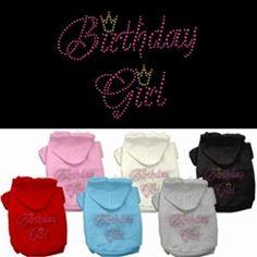 Birthday Girl Hoodies for dogs, Dog Birthday Apparel, Dog Birthday Gifts