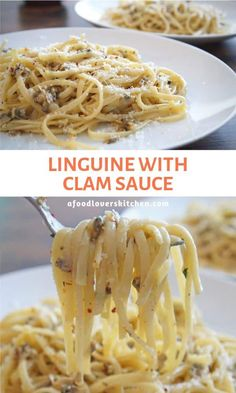 This Linguine with Clam Sauce is a super easy meal that has so much flavor. Make it under 10 minutes! Pasta With Clam Sauce, Clam Pasta, Pasta Dishes, Food Dishes, Pasta With Clams, Linguine Recipes, Seafood Pasta Recipes, Spaghetti Recipes, Clams And Spaghetti Recipe