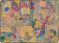 """Paul Klee 'Baum und Architektur-Rhythmen' (Tree and Architecture--Rhythms) 1920  Watercolor on paper  11 x 15 1/16"""""""