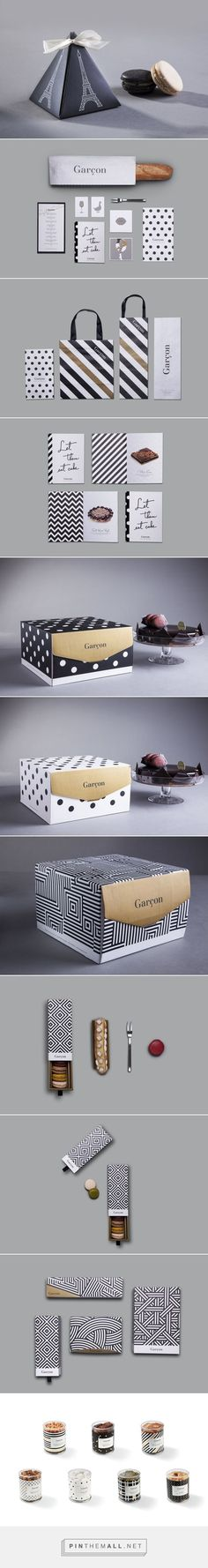 Garçon on Behance by Brownfox Studio curated by Packaging Diva PD. Some great packaging branding for a French restaurant based in Jakarta.