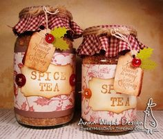 Spice Tea Gift Jars - Sassy & Sweet Notes