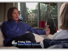 """ABC's News Anchor Diane Sawyer joined George Stephanopoulos on """"Good Morning America"""" to chat about her exclusive interview with Bruce Jenner airing tonight, April 24, and gave fans a sneak peek of her sit-down with the former Olympian."""