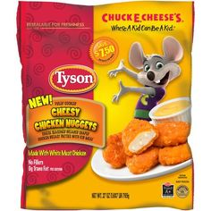 If you need a nugget that's sure to please, just say cheese! We've taken everybody's favorite nugget, added delicious cheese-seasoned breading and stuffed it with a tasty mix of Cream Cheese, Mozzarella and American. Frozen Projects, Kids Chicken Nuggets, Ribs Seasoning, Gourmet Recipes, Snack Recipes, Microwave Dinners, Frozen Appetizers, Candy Crystals, Rib Meat