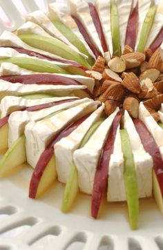 Lady Liberty's Apple Brie w/candied walnuts & Maple syrup http://www.ladylibertyevents.com/index.php/palate-teaser